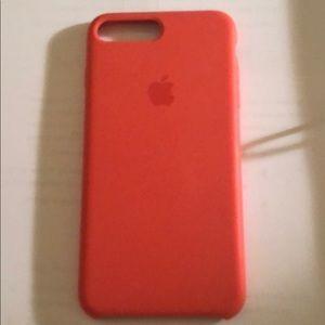 size 40 0b8da 9b112 Apple silicone IPhone 7 Plus Spicy Orange case